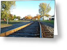 Railroad S-curve Greeting Card