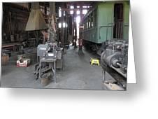 Railroad Shop Greeting Card