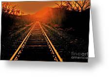 Railroad  Surreal Perspective IIi Greeting Card