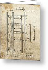 Railroad Switch Patent Greeting Card