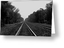 Railroad To Nowhere Greeting Card