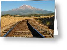 Railroad To The Mountain Greeting Card