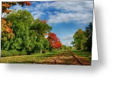 Railroad Tracks At Grand-pre National Historic Site Greeting Card