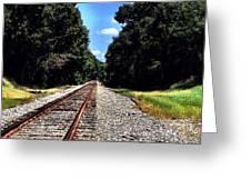 East Texas Tracks Greeting Card