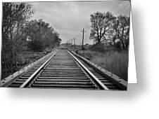Railroad Tracks Greeting Card by Matthew Angelo