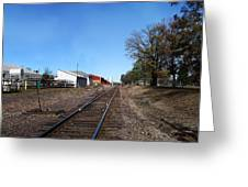 Railroad Tracks Switch Station Greeting Card