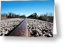 Railroad Trestle  Greeting Card