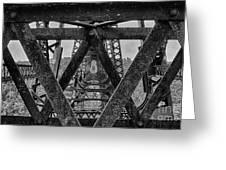 Railroad Trestle Panoramic 2 Greeting Card