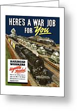 Railroad Workers Urgently Needed Greeting Card