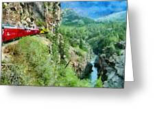 Rails Above The River Greeting Card