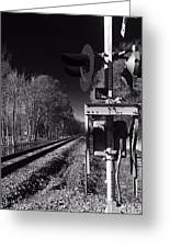 Railway 2 Black And White Greeting Card
