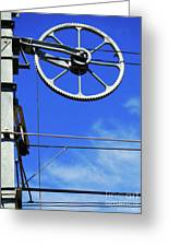 Railway Catenary Greeting Card