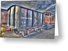 Railway Gunpowder Wagon Greeting Card by Chris Thaxter