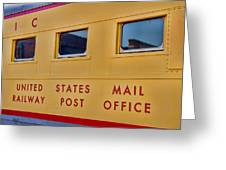 Railway Post Office Greeting Card