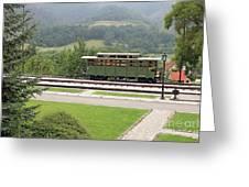 Railway Station On Mountain Vintage Greeting Card