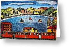 Railway Views Greeting Card by Monica Engeler
