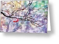 Rain Berries Greeting Card