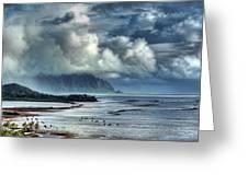 Rain Clearing Kaneohe Bay Greeting Card
