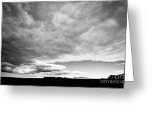 Rain Clouds And Weather Front Move Over Ring Road Hringvegur Across The Skeidararsandur Greeting Card