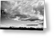 Rain Clouds And Weather Front Move Over Ring Road Hringvegur Across The Skeidararsandur Sand Plain S Greeting Card