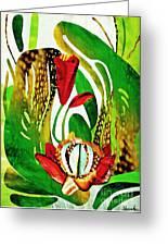 Rain Flowers Greeting Card by Sarah Loft