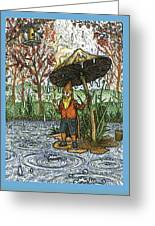 Rain Gnome Greeting Card