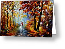 Rain In The Woods Greeting Card