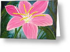 Rain Lily Greeting Card