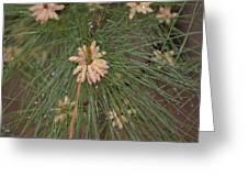 Rain N Flower Greeting Card