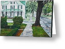 Rain On Green Roof Greeting Card
