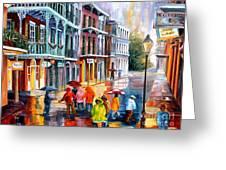 Rain On St. Peter Street Greeting Card