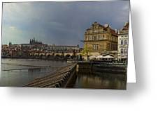 Rain Over Prague Greeting Card