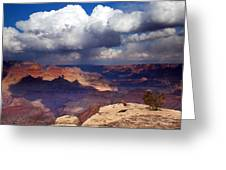 Rain Over The Grand Canyon Greeting Card
