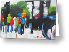 Rain People Greeting Card