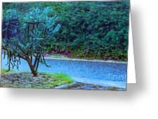 Rain Storm On Lake Linda Greeting Card