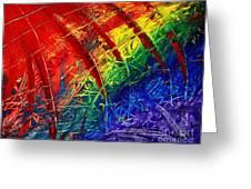 Rainbow Abstract Greeting Card