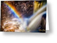 Rainbow And Falls Greeting Card