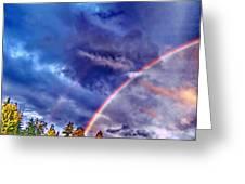 Rainbow And Scalar Waves IIi Greeting Card