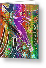 Rainbow Animals Yoga Mat Greeting Card