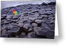Rainbow At Giant's Causeway Greeting Card