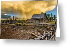 Rainbow At Moulton Barn Greeting Card