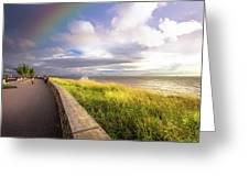 Rainbow At  Seaside Greeting Card