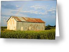 Rainbow Barn Greeting Card