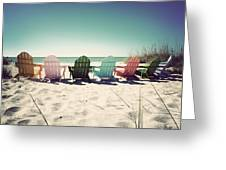 Rainbow Beach-vintage Greeting Card by Chris Andruskiewicz
