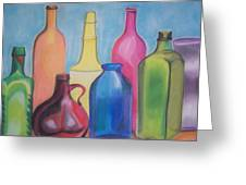 Rainbow Bottles Greeting Card