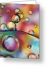 Rainbow Bubble Drops Greeting Card by Sharon Johnstone