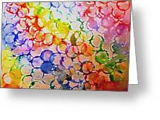 Rainbow Bubbles Greeting Card