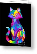 Rainbow Cat Greeting Card