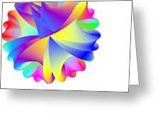 Rainbow Cluster Greeting Card