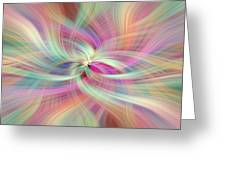 Rainbow Colored Abstract. Concept Divine Virtues Greeting Card